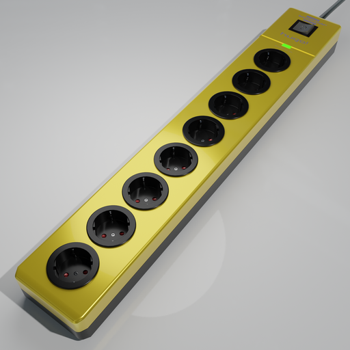 Thumbnail: Brennenstuhl hugo! 8-way socket strip yellow