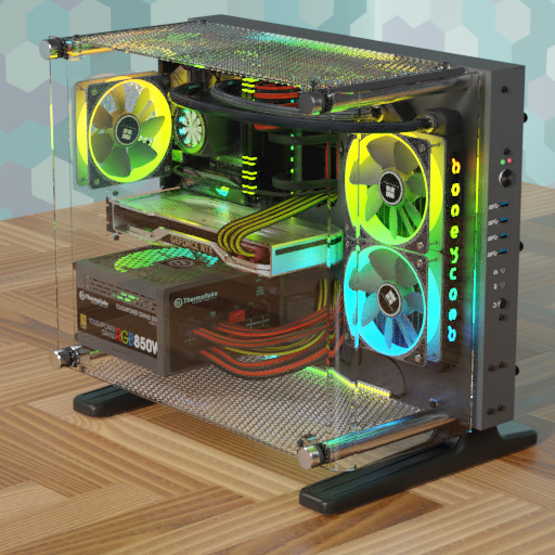Thumbnail: Mini ITX PC in a shortened Thermaltake P3 housing.