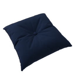 Thumbnail: Blue velvet button cushion A