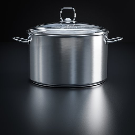 Thumbnail: Stainless steel cooking pot with lid
