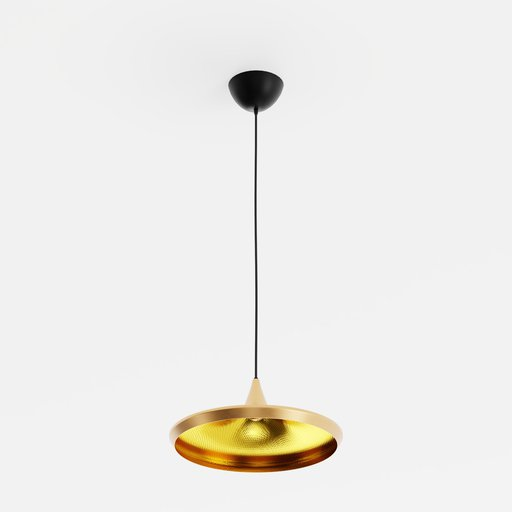 Dixon Beat Wide Pendant Gold