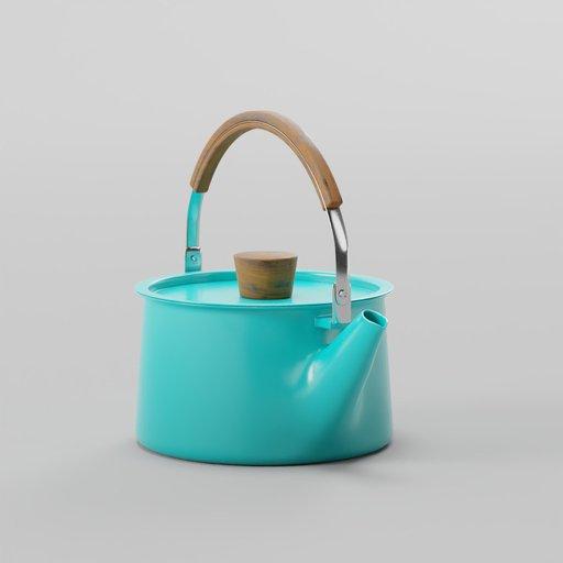 Thumbnail: Minimalist Tea Kettle Wooden Handle