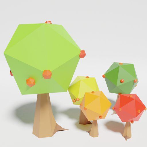 Thumbnail: Low Poly Apple Tree Multicolor