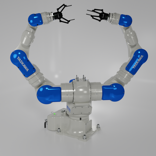 Robot Yaskawa-MOTOMAN SDA20F-rigged