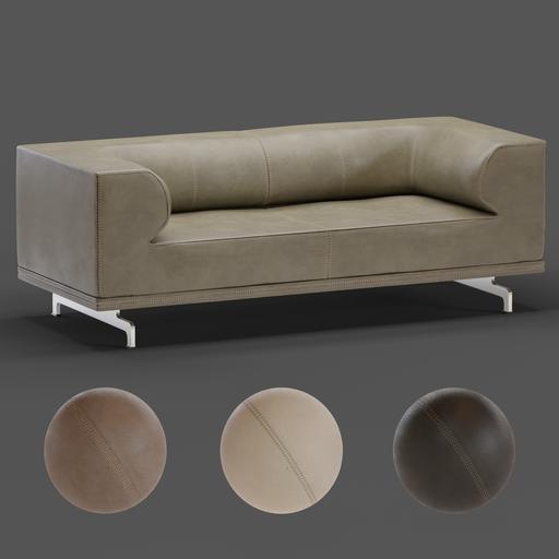 Thumbnail: Delphi Sofa 4510 - Nubuck Leather