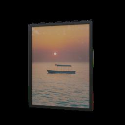 Thumbnail: Frame fisherman boat at sunset