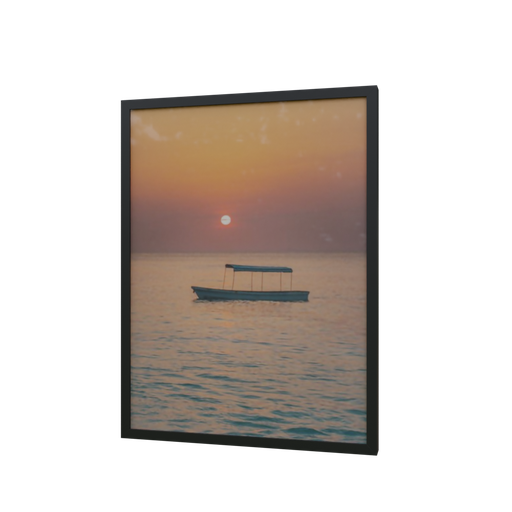 Thumbnail: Frame fisherman boat at sunset