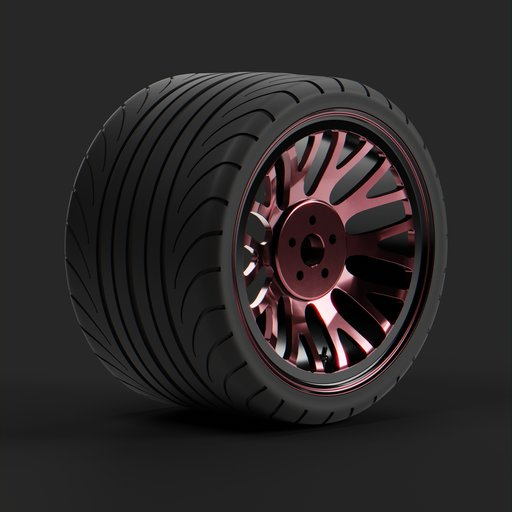 Thumbnail: Red wide tire.