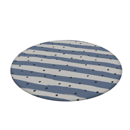 Thumbnail: Round Carpet Wevans Stripes