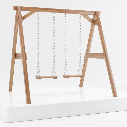 Thumbnail: Double wooden swing