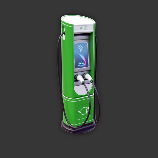 Thumbnail: Electric Vehicle Charging Station (green variant)