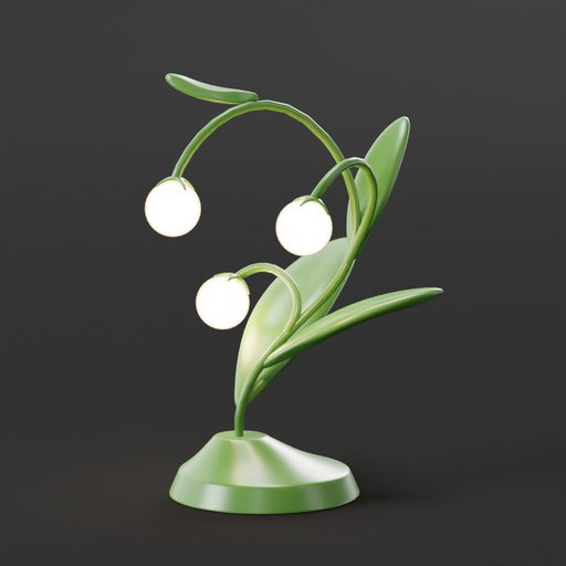 Eggplant Lamp