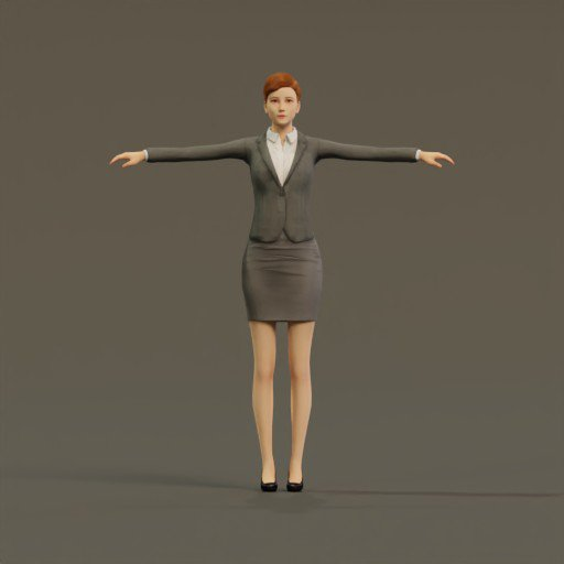 Thumbnail: Woman Formal T-Pose Rigged