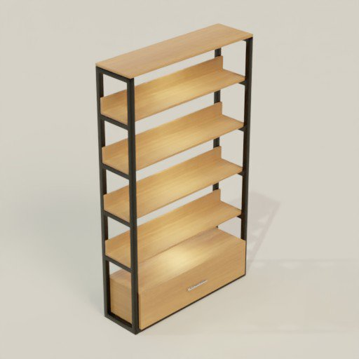 Thumbnail: Rack Shelving Bookcase 120 x 35 x 200