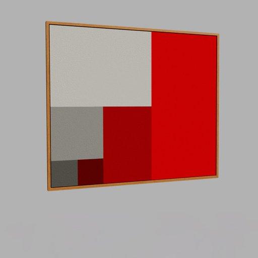 Framed modern painting 3
