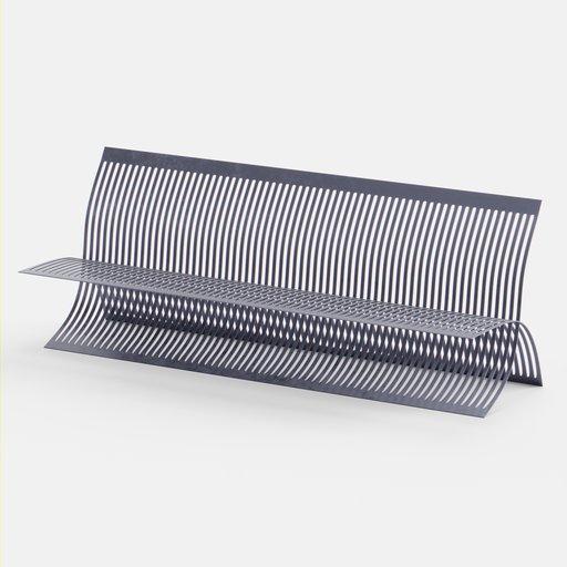 Exterior procedural metal bench