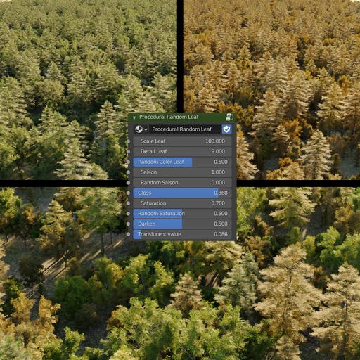 Lowpoly Forest (with random season)