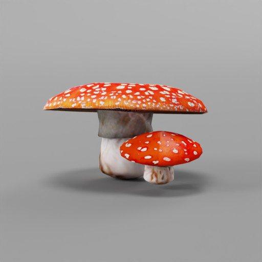 Thumbnail: LowPoly Mushrooms