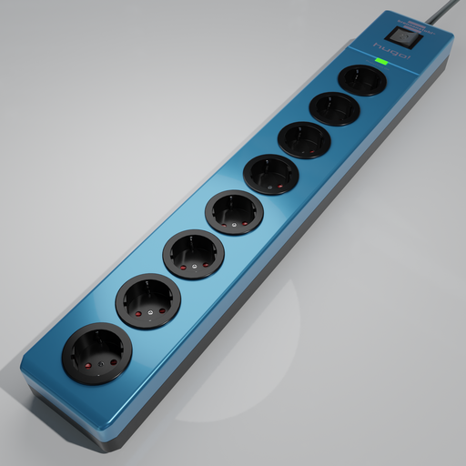 Thumbnail: Brennenstuhl hugo! 8-way socket strip blue
