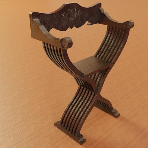 Thumbnail: Medieval italian Chair