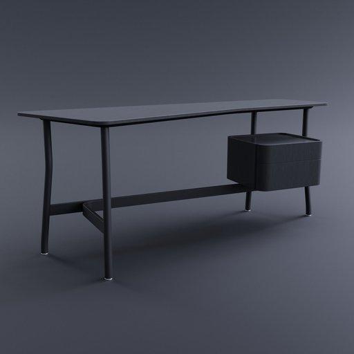 Thumbnail: L40 Sled Desk (Right Drawer)