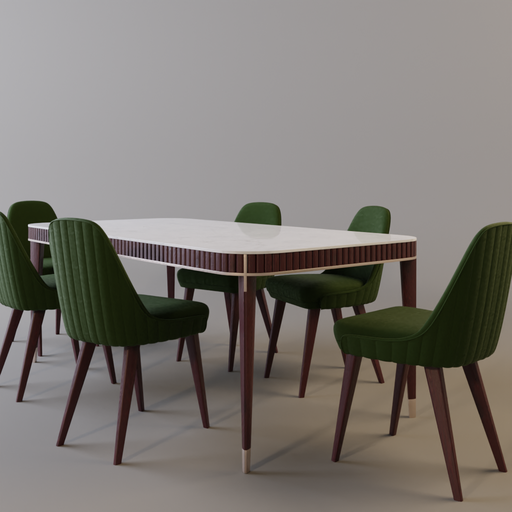 Thumbnail: Dining Table and chairs