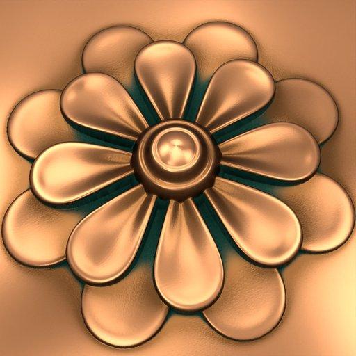 Baroque Flower Ornament