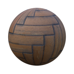 Thumbnail: herringbone parquet oak old n dirty