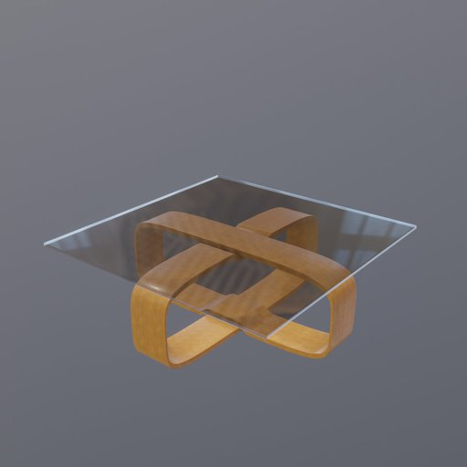 Thumbnail: Wooden X coffee table