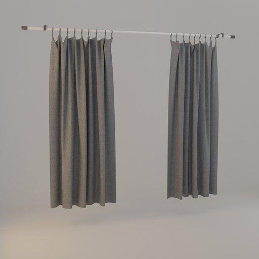 Thumbnail: Curtain grey 01