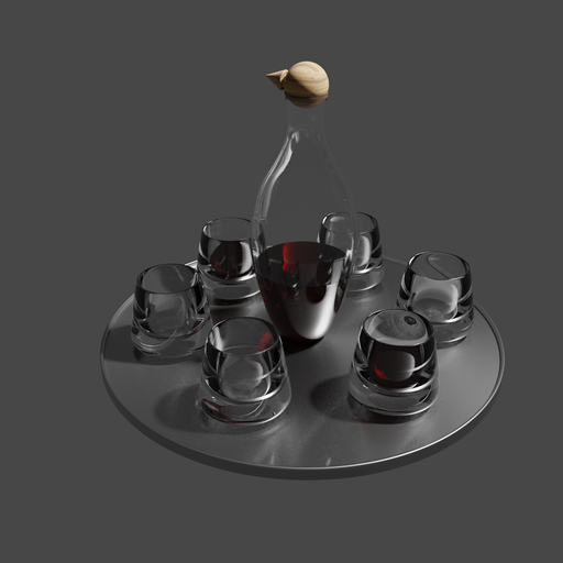Thumbnail: Modern wine set
