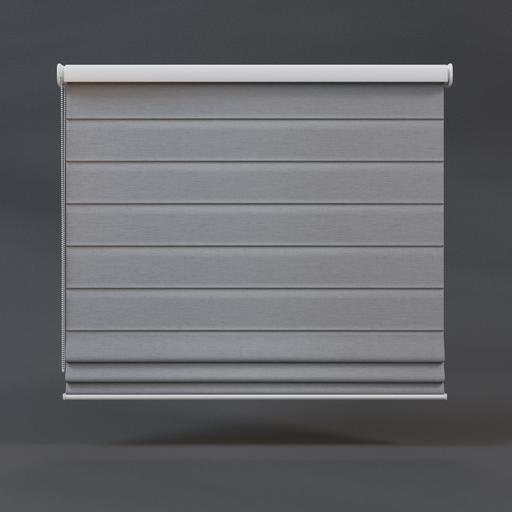 Roman blinds 01 full grey