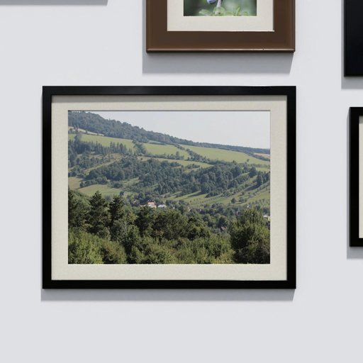 Photo frame 'anyframe' with a landscape