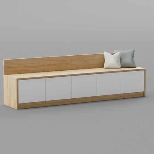 Thumbnail: Credenza Side Board Cabinet
