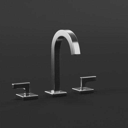 Thumbnail: Contemporary bathroom faucet