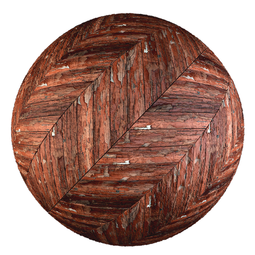 Thumbnail: Old painted parquet - Hungarian Point pattern