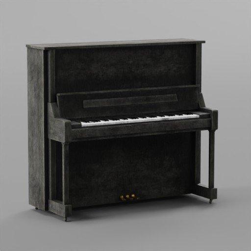 Thumbnail: Old Black Wooden Piano