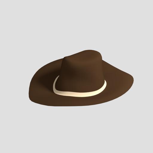 Low Poly Cowboy Hat