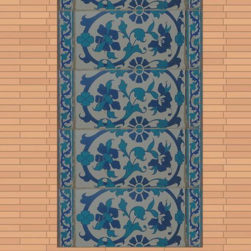 Thumbnail: Multan fort wall decoration