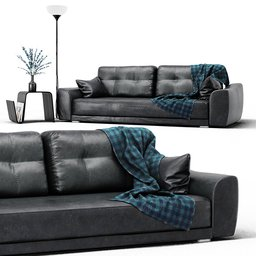 Thumbnail: Leather Sofa Set