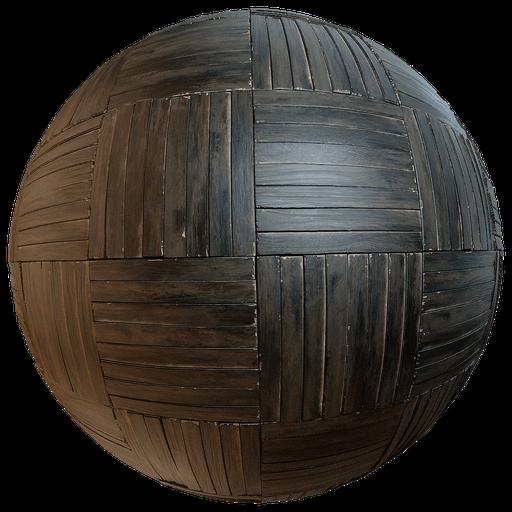 Old wooden parquet