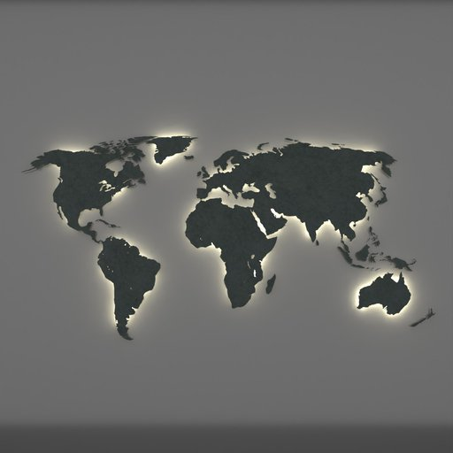 Thumbnail: World Map LED Back Lit
