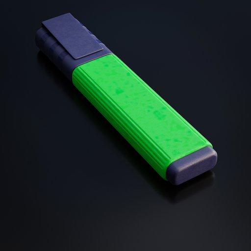 Thumbnail: Green textmarker pen