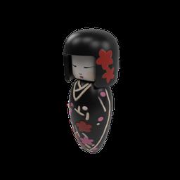 Thumbnail: SM_Kokeshi Japanese Doll 03