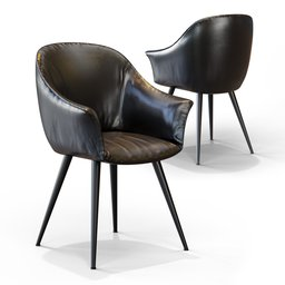 Thumbnail: Leather Chair Black
