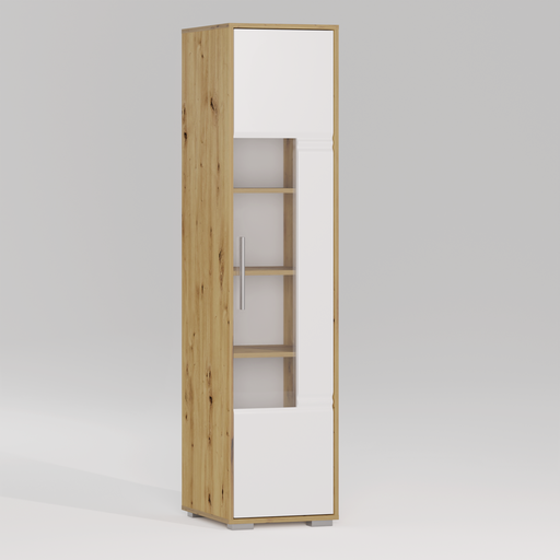 Thumbnail: ROMA Glass door bookcase 1D R
