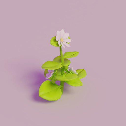 Thumbnail: Lowpoly Flower