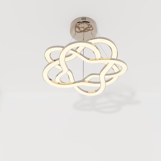 Thumbnail: Ceiling lamp rhodium crystal braided.