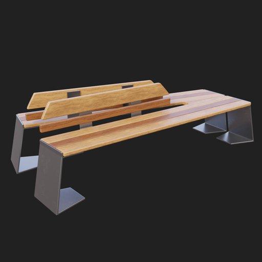 Thumbnail: Modern Street Bench #03v2