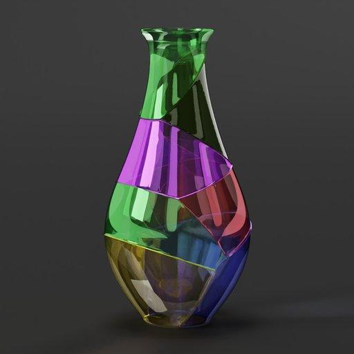 Thumbnail: Colored glass vase